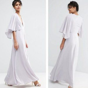 NEW ASOS | Deep Plunge Cape Sleeve Maxi Dress 12
